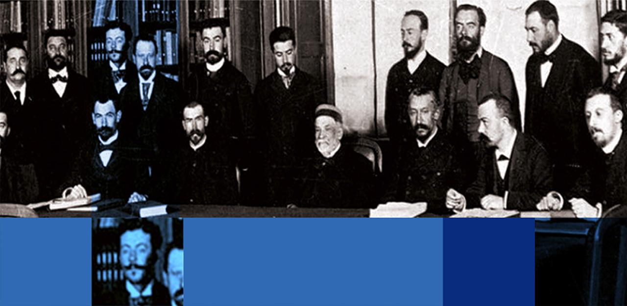 Marcel Mérieux auprès de Louis Pasteur