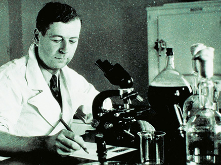 Dr. Charles Mérieux working