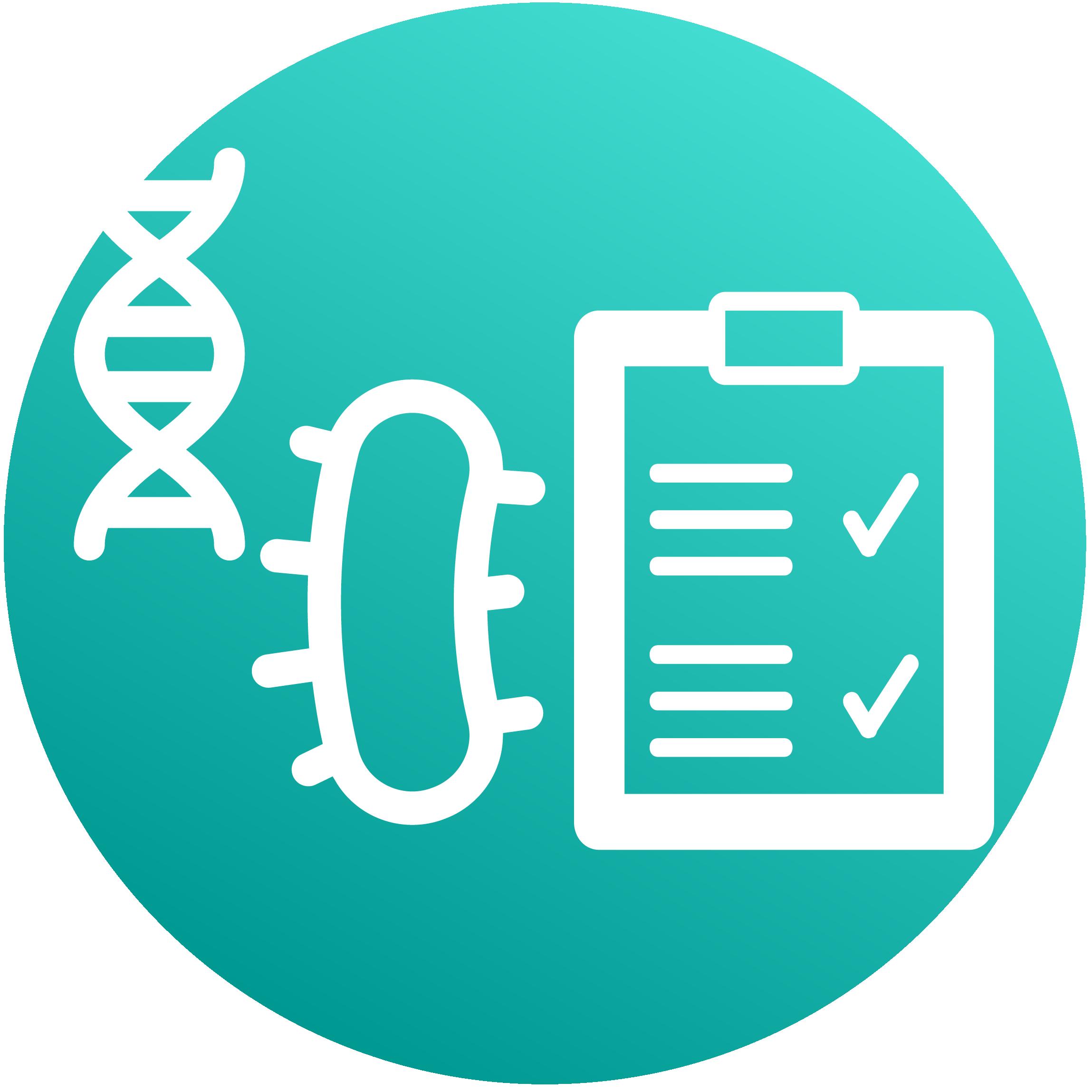Microbiology diagnostics picto